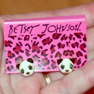 Betsey Johnson Panda Earrings